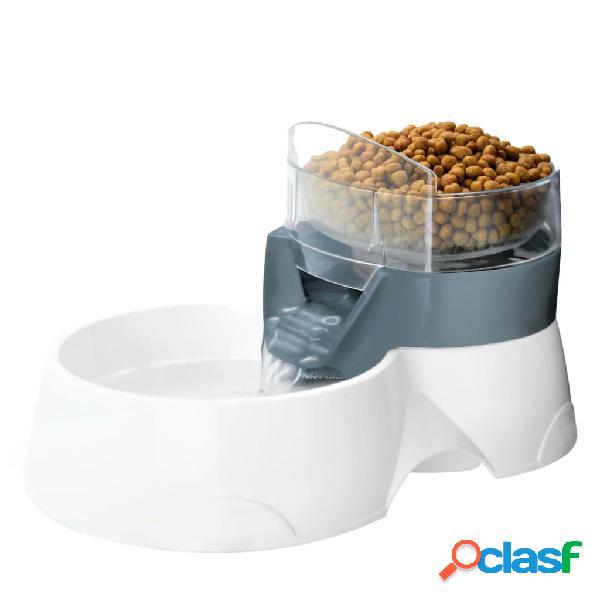 Ebi distributore cibo automatico per animali 28x19x17cm bianco grigio