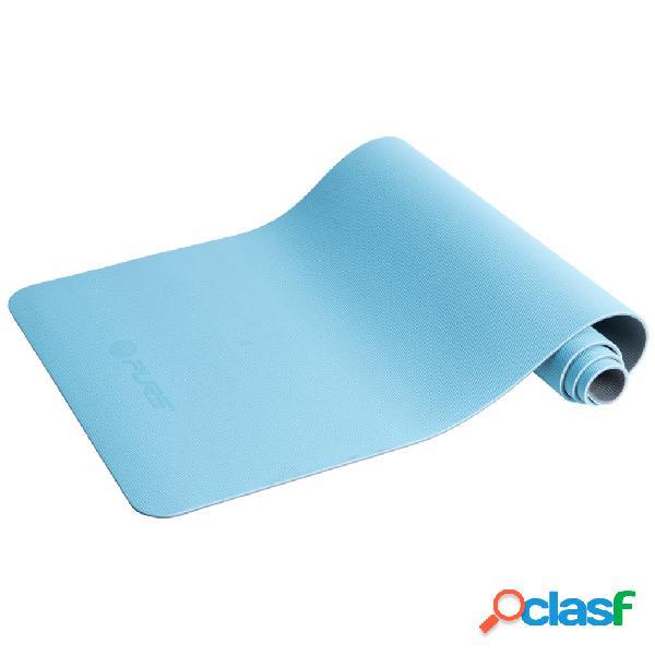 Pure2improve tappetino da yoga 173x58x0,6 cm blu e grigio