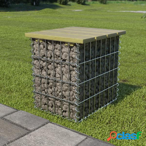 Vidaxl sgabello da giardino 40x40x45 cm in acciaio zincato e legno