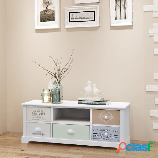 Vidaxl mobiletto porta tv in stile francese in legno