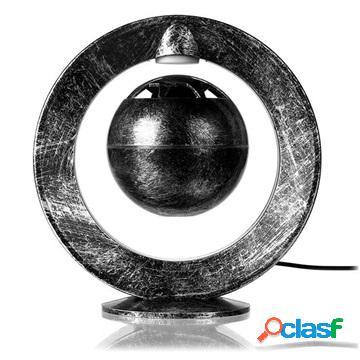 Altoparlante bluetooth con levitazione magnetica e led lampada notturna - argento