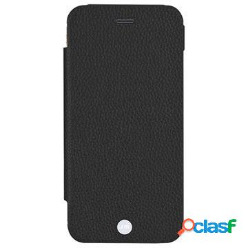 Custodia a portafoglio in pelle just mobile quattro per iphone 6 plus - nera