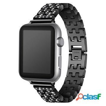 Bracciale in acciaio inossidabile per apple watch - 38mm - nero
