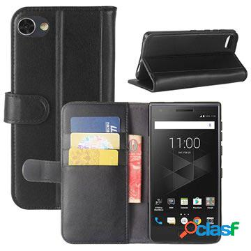 Custodia a portafoglio testurizzata per blackberry motion - nera