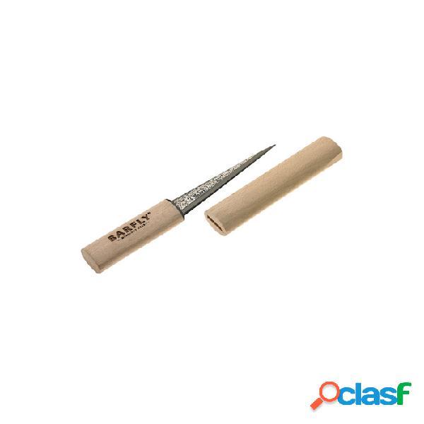 Rompighiaccio a una punta con cappuccio in legno naturale e lama in acciaio - beige