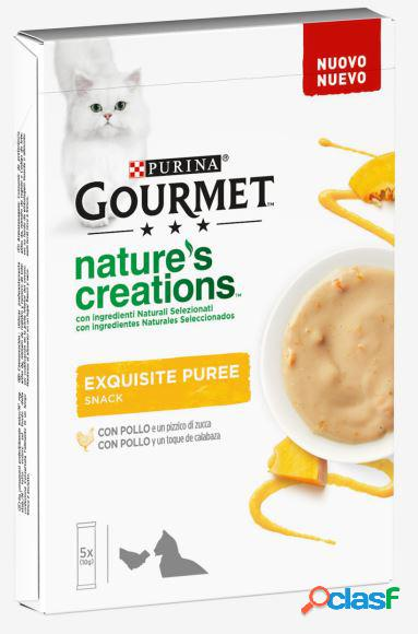 Purina gourmet nature's creations exquisite puree 5x10 gr pollo e...