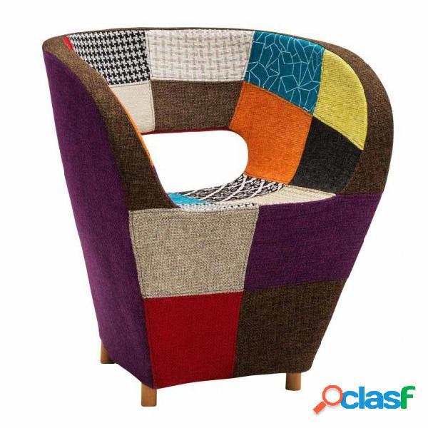 "Poltroncina in tessuto patchwork ""design"""