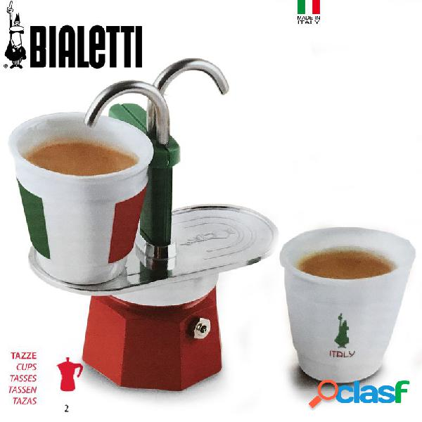 Bialetti Set Mini Express Tricolore Caffettiera Moka 2 Tz