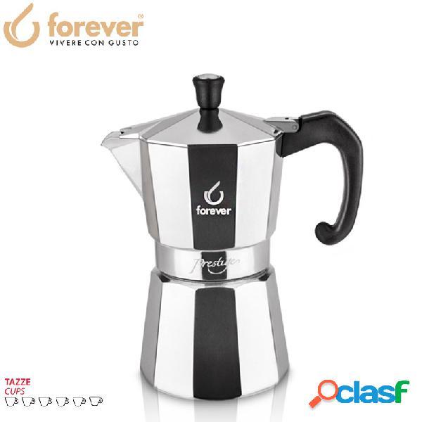 Forever miss prestige caffettiera moka express 6 tz alluminio