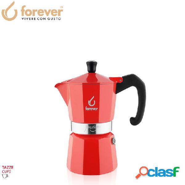 Forever miss prestige la rossa caffettiera moka express 1 tz alluminio