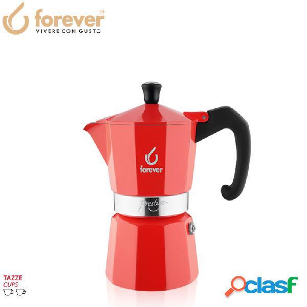 Forever miss prestige la rossa caffettiera moka express 2 tz alluminio