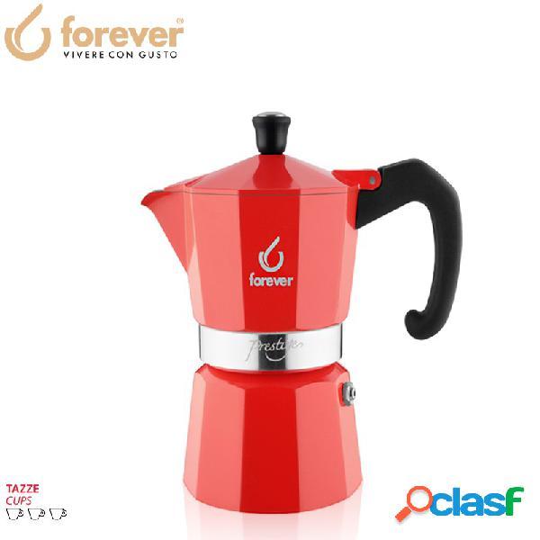 Forever miss prestige la rossa caffettiera moka express 3 tz alluminio