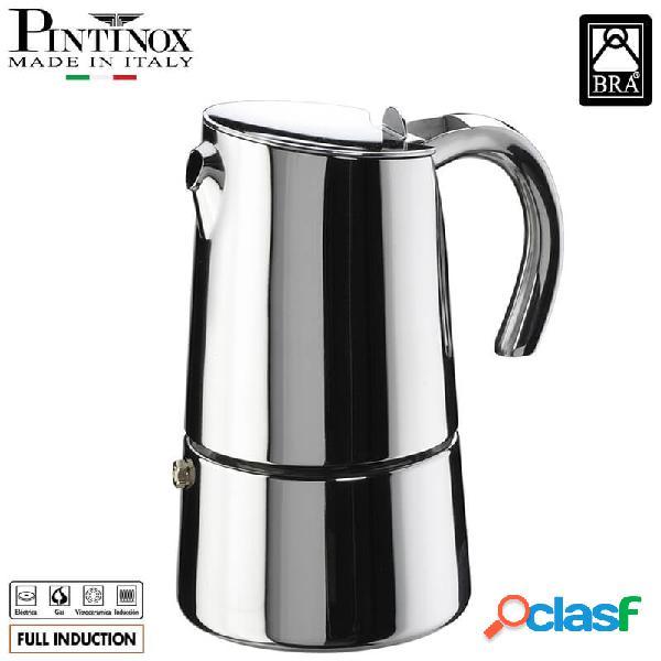 Pintinox bella caffettiera moka 6 tazze acciaio inox