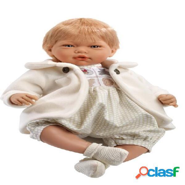 Bambola Reborn Muñecas Guca Adrian Biondo con Cappottino Beige