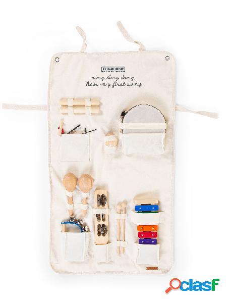 Set musicale 8 strumenti childhome+organizer pieghevole tela