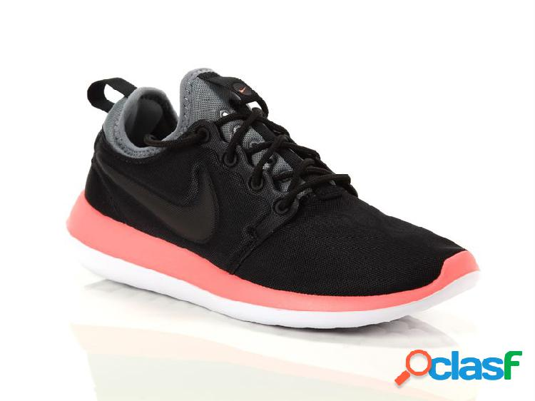 Nike wmns roshe two black cool grey lava glow, 35½, 36 Donna, NeroNoirNero