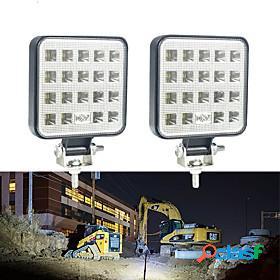2pcs 4 inch 9v-30v 57w 6000k 19 smd led work light bar spot beam light driving fog lamp running light for car truck suv off-road