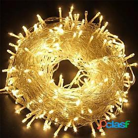 100m 800leds outdoor christmas led string lights eu uk plug fairy lights holiday lighting wedding christmas tree decoration lights 220-240v