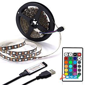 Usb led strip 1m 2m 3m 4m mini 24key flexible light lamp desk decor screen tv background lighting