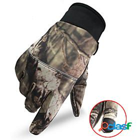 Climbing gloves fishing gloves tactical combat gloves men's camo / camouflage touch screen thermal warm windproof wear resistance nylon fall winter spring camp