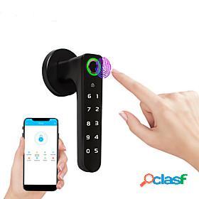 Zinc alloy lock / intelligent lock / card lock smart home security system rfid / password unlocking / mechanical key unlocking household / home / home / office