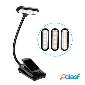 Reading light rechargeable / eye protection / adjustable modern contemporary usb powered for bedroom / study room / office dc 5v white / black