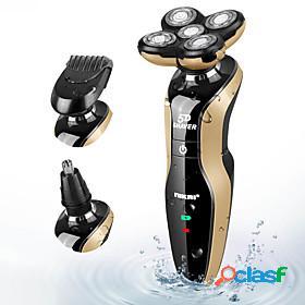 Lcd digital display 5d floating razor full body wash 3 in 1 electric razor set