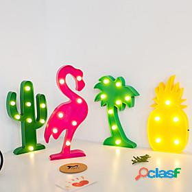 Led night light christmas decoration for home bar bedroom indoor modeling light christmas tree flamingo cactus pineapple