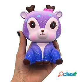 Squishy squishies squishy toy squeeze toy / sensory toy jumbo squishies 1 pcs deer galaxy starry sky stress and anxiety relief super soft slow rising poly uret
