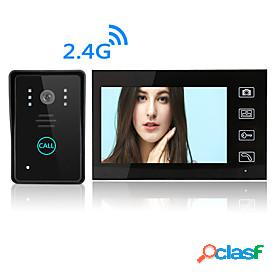 Wireless 7 inches video intercom video doorphone/doorbell hd lcd touch screen phone two-way clear home security camera monitor for home door access control sec