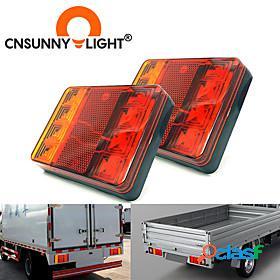 Cnsunnylight car truck 8 led rear tail light warning lights rear lamps waterproof tailight parts for trailer caravans dc 12v 24v 3 in 1