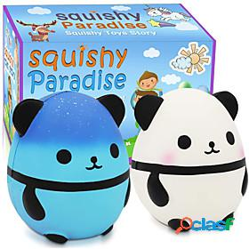 Squishy squishies squishy toy squeeze toy / sensory toy jumbo squishies stress reliever 2 pcs fooddrink unicorn shark panda stress and anxiety relief novelty s