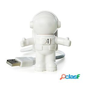 Usb led adjustable night light cool new astronaut spaceman for computer pc lamp desk light pure white