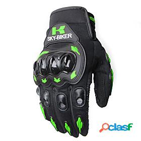 Full finger / mittens all / unisex motorcycle gloves nylon pva touch screen / waterproof / breathable