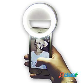 Round led night light led smart light 3 modes dimmable selfie light aaa batteries powered 1pc