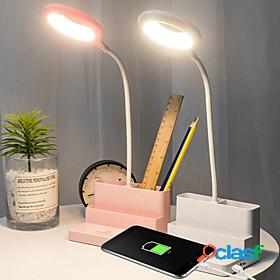 Reading light rechargeable / eye protection / smart home modern contemporary usb powered for girls room / office dc 5v white / blushing pink