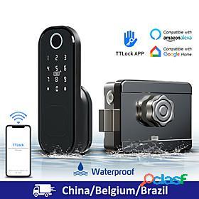 Litbest fingerprint lock / intelligent lock aluminium alloy smart home security system household / home / apartment fingerprint unlocking / password unlocking