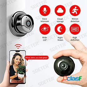 Sdeter hd 1080p wireless mini wifi camera home security no lights camera ip cctv surveillance camera ir night vision two way audio motion detect baby monitor p