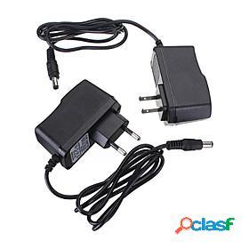 1pc 110/220 12 v strip light accessory / us / eu plastic metal / plastic power adapter for rgb led strip light / for led strip light 12 w