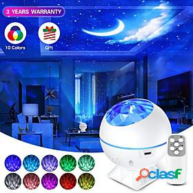 Usb led star moon night light colorful galaxy light projector ocean nebula lamp music control for kids christmas new year gifts