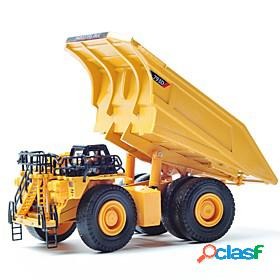 1:75 soft plastic mining dump truck toy truck construction vehicle toy car educational toy pivoting head classic classic theme architecture machine boys' girls
