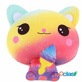 Squishy squishies squishy toy squeeze toy / sensory toy jumbo squishies 1 pcs cat ice cream cute stress and anxiety relief slow rising poron for kid's adults'