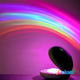 Rainbow projector shell projection lamp led night light rainbow night scape arc colorful gradient christmas gift wedding date valentine's day romantic projecto