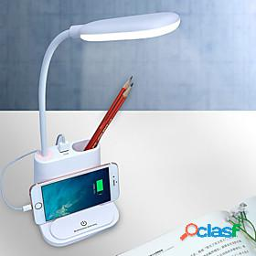Desk lamp rechargeable / eye protection / new design modern contemporary built-in li-battery powered for plastic dc 5v white / blushing pink