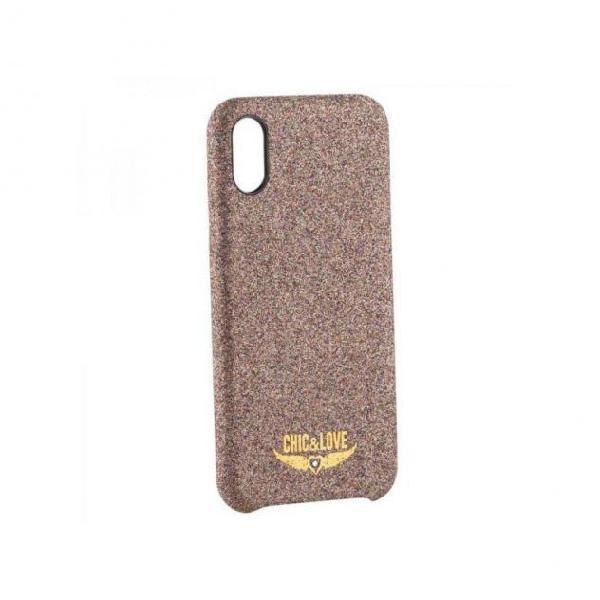 Custodia iphone x-xs chic & love chcar005 porporina rame