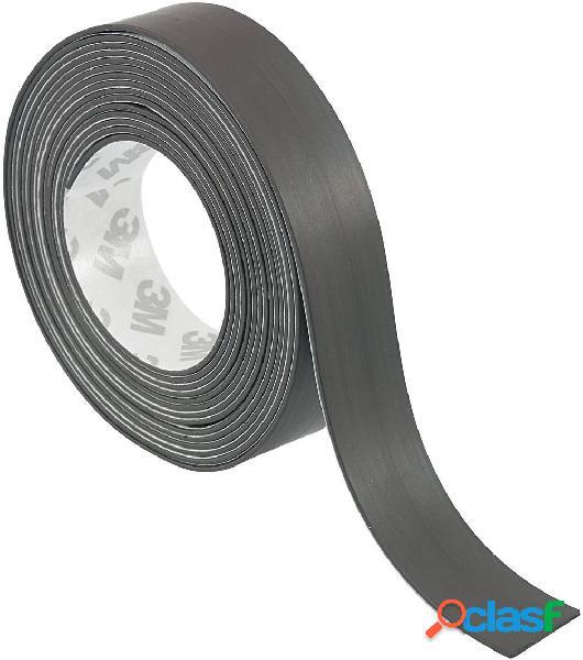 Tru components s513-1050 1563953 nastro adesivo magnetico s513-1050 nero (l x l) 10 m x 50 mm 1 pz.
