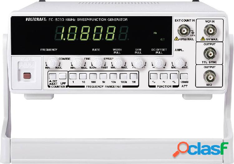 Voltcraft 8210 generatore di funzioni 10 mhz (max) 2 canali