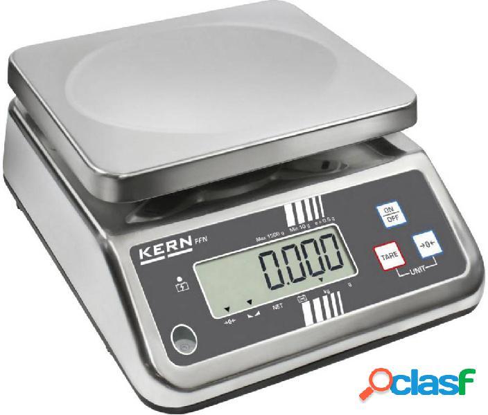 Kern ffn 6k2ipm bilancia da tavolo portata max. 6 kg risoluzione 2 g rete elettrica, a batteria ricaricabile argento