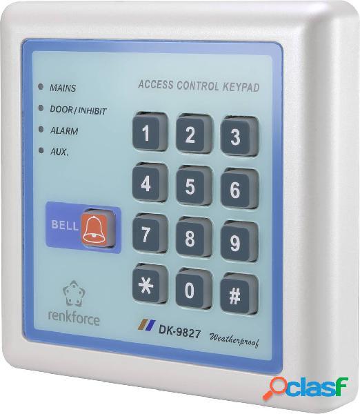 Renkforce 1582598 serratura numerica digitale montaggio superficiale kit 12 v ip65 con tastiera illuminata