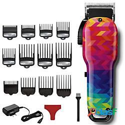 Tagliacapelli professionale da barbiere potente tagliacapelli elettrico da uomo tagliacapelli cordless strumento di taglio dei capelli (120 colori tipo) lightinthebox